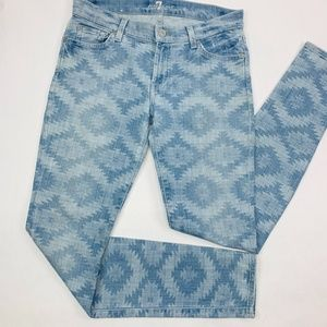 7 For All Mankind Womens Jeans 28 Blue The Skinny